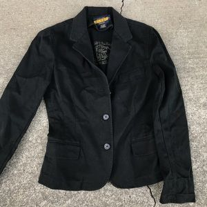 Rugby Ralph Lauren women's blazer black coat